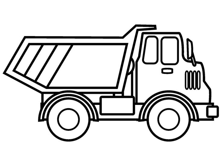 simple truck coloring pages construction