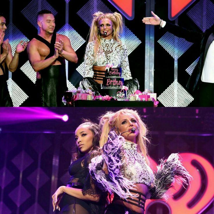 "#BritneySpears celebrated her 35th birthday on Friday in LA at #1027KIISFM's #JingleBall 2016! Britney performed current single ""Slumber Party"" live for the first time with collaborator #Tinashe! • • • • • • • • • • • • • • • • • • • • • • • • • • • • • • • • • • • #BritneySpears comemorou seu aniversário de 35 anos nesta sexta-feira em LA no #JingleBall 2016 da rádio #1027KIISFM! Britney performou o atual single ""Slumber Party"" ao vivo pela primeira vez com a colaboradora #Tinashe!"