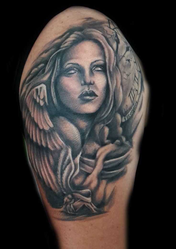 www.valestattoo.com #valestattoo #tattoo #tattooed #tatuaggio #angelo #angel #angelocustode #angeli #ali #orologio #sfumature #blackandgrey #blackandgreytatoo #pantheraink #pantherablackink #pantherainktattoo #tattooart #tattooartist #tattooartistitaly #tattoomadeinitaly #photooftheday #bestoftheday #love #amore