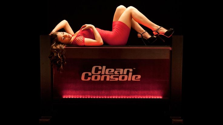"ClearConsole Classic 66"" LED DJ Booth"