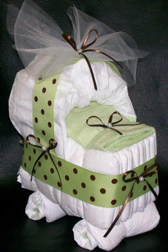 Bassinet Diaper Cake Baby Shower by CountryGardenCrafts on Etsy, $12.50