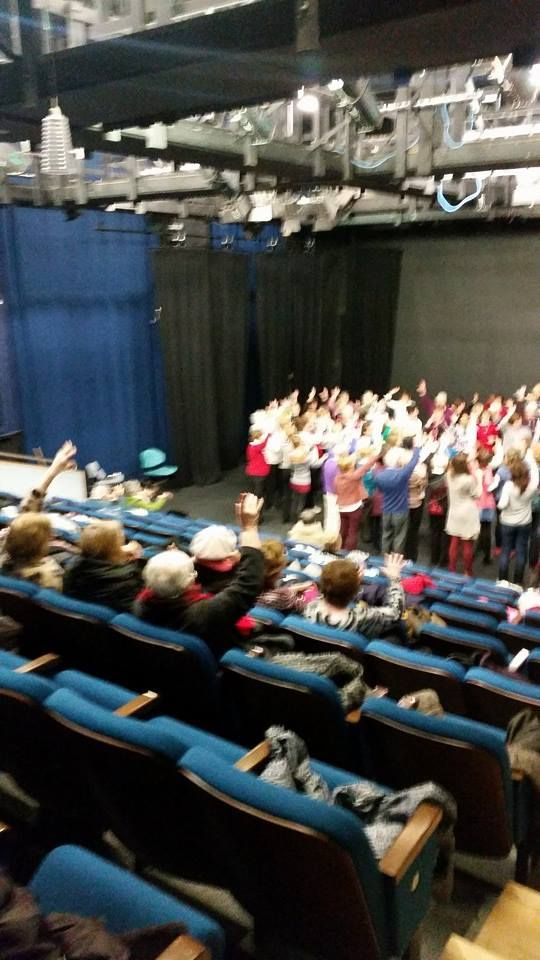 Hands in the air! — at Garter Lane Arts Centre.