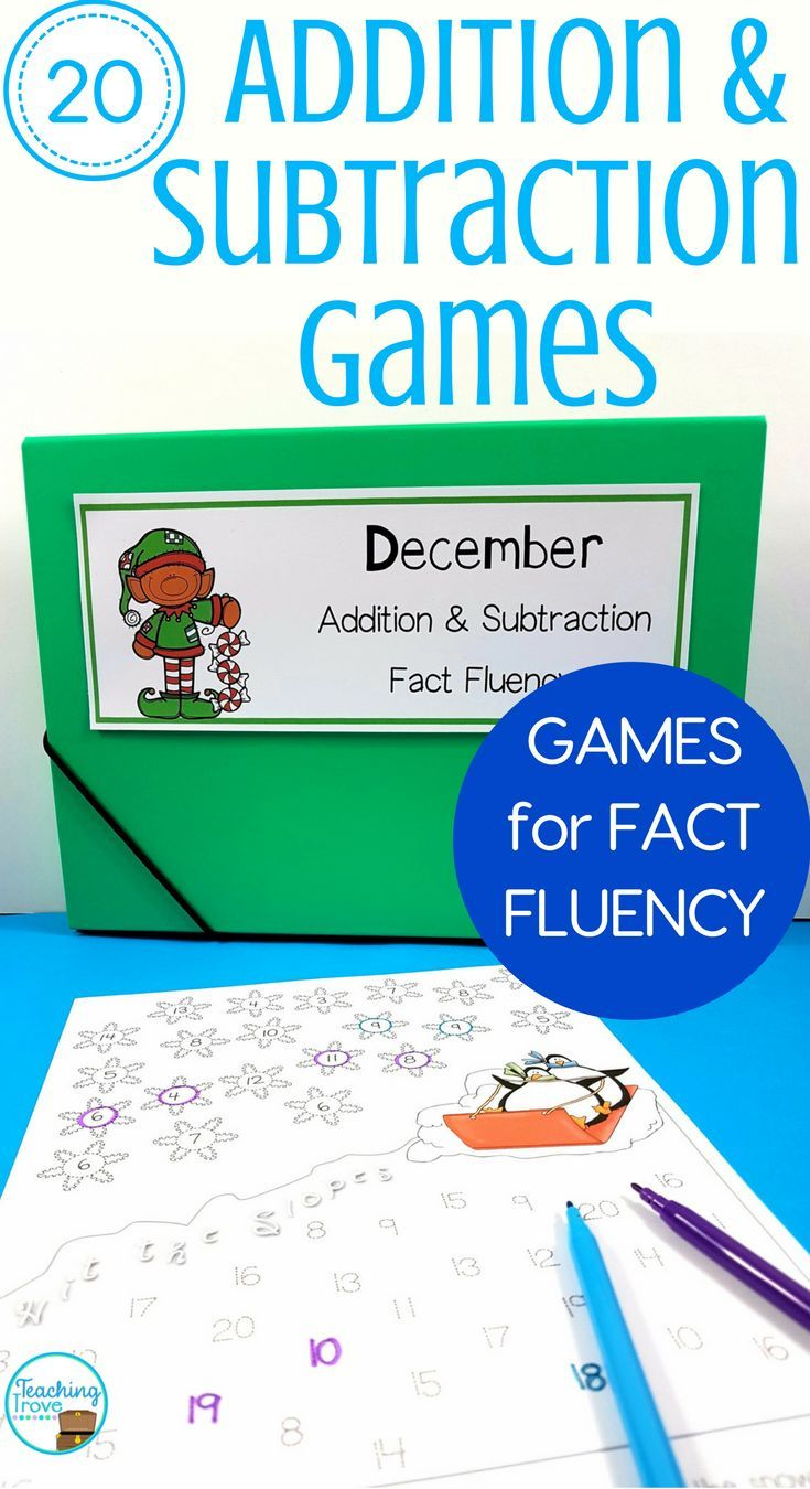Twenty Fact Fluency Games For Every Month Fact Fluency Fact Fluency Games Math Lessons [ 1350 x 735 Pixel ]