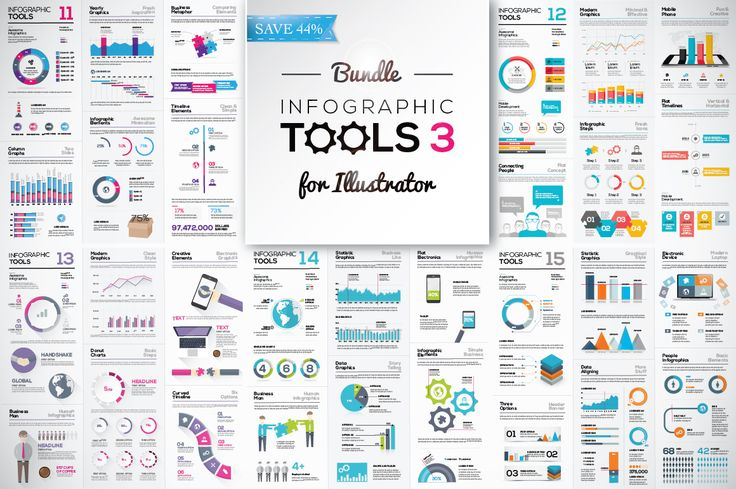 [-44%] Infographic Tools Bundle v. 3 by MPF Design on Creative Market