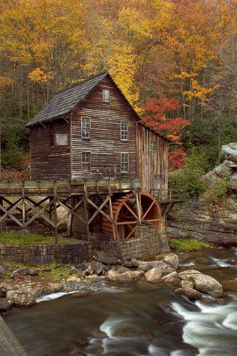 The Glade Creek Grist Mill in West Virginia.