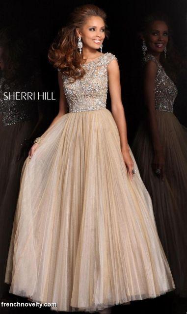 Sherri Hill 2984 Cap Sleeve Ball Gown for Prom- I REALLY REALLY REALLY REALLY WANT THIS DRESS