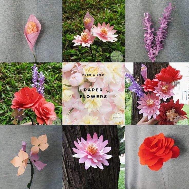 IG: peekaboo.craft //////// paper flower, bunga kertas, wisuda, bunga wisuda, bandung, florist bandung, mawar, dahlia, lavender, bucket flower, box flowers