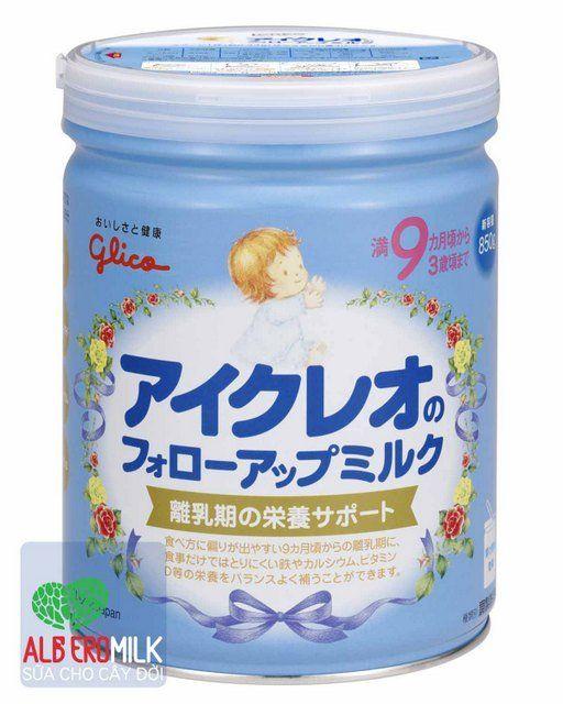 Sữa bột cho bé chất lượng cao. Mua sữa bột cho bé nhập khẩu chất lượng cao online của công ty, hãng sữa, đại lý Alberomilk. Icreo 9 - 850g