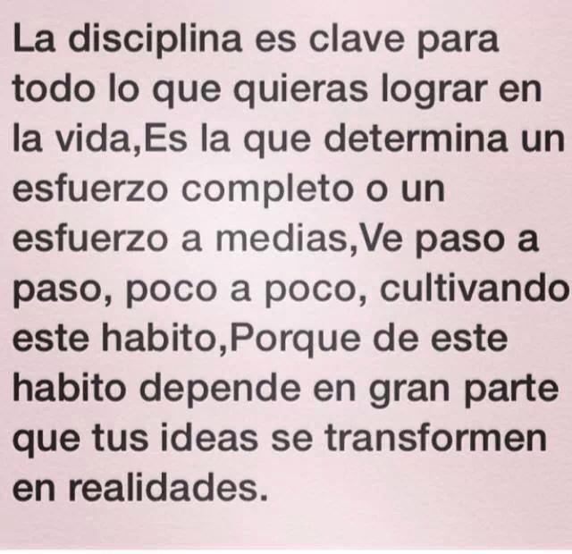 Disciplina :)