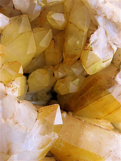 ∆ Crystals fresh from the earth