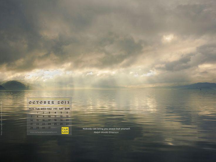 October 2013 Desktop Calendar - Matt Grace Photography, Wellington Harbour, New Zealand. http://tankercreative.com/2013/09/27/october-2013-desktop-calendar/