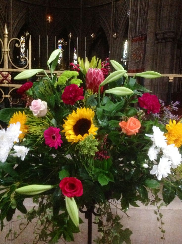 Beautiful summer flowers St Michael and All Angels Croydon