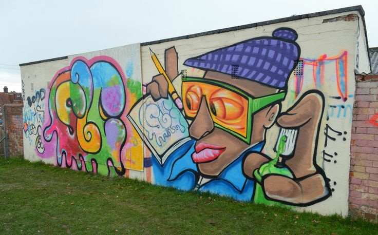 Graffiti workshop with a group at Sherborne Learning Centre