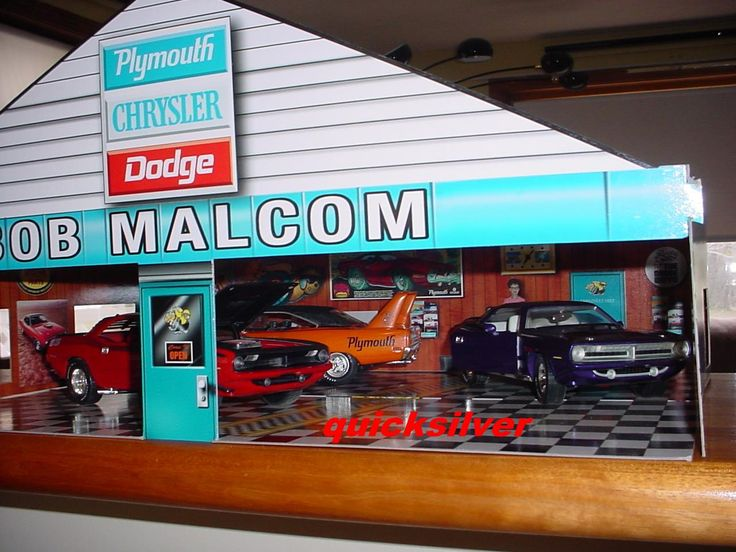 Bob Malcom Chrysler Plymouth Dodge Dealership Display | Dioramas | MoPar Nationals 1/18th Diecast cars NOT included