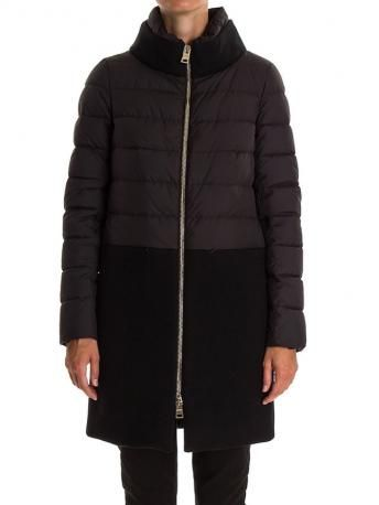 Herno-piumino lungo nero-black down coat-Herno Fall Winter 2014 2015