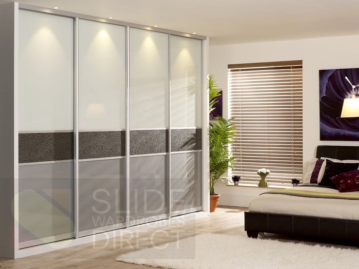Elegant 4 Door Monaco Style Sliding Wardrobe Door. The Fineline Panel Is Fake  Alligator Skin,