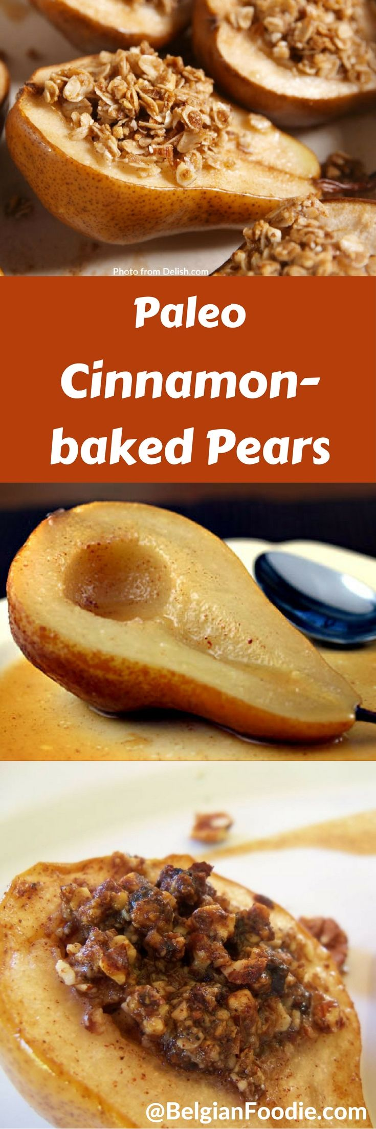 Try Heart-healthy (Paleo) Cinnamon-baked Pears for dessert for your family and friends.  Quick, easy, tasty and healthy.