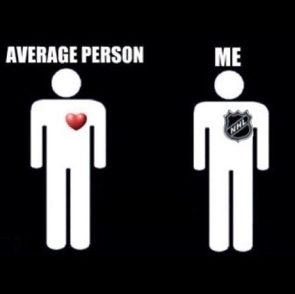 Average person vs Me. NHL heart♡