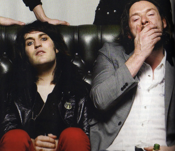 Noel Fielding and Julian Barratt. <3 Noel seemed to be able to keep it together for photos and interviews better than Julian, no matter how wrecked they both were... Haha.