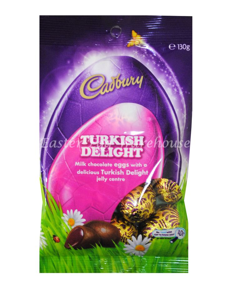 turkish delight easter bunny | Cadbury Turkish Delight Solids Eggs 130g