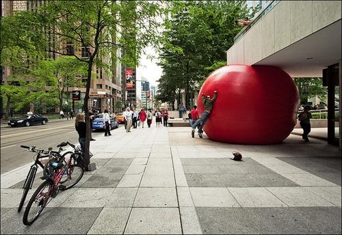 Red Ball Project by Kurt Perschke