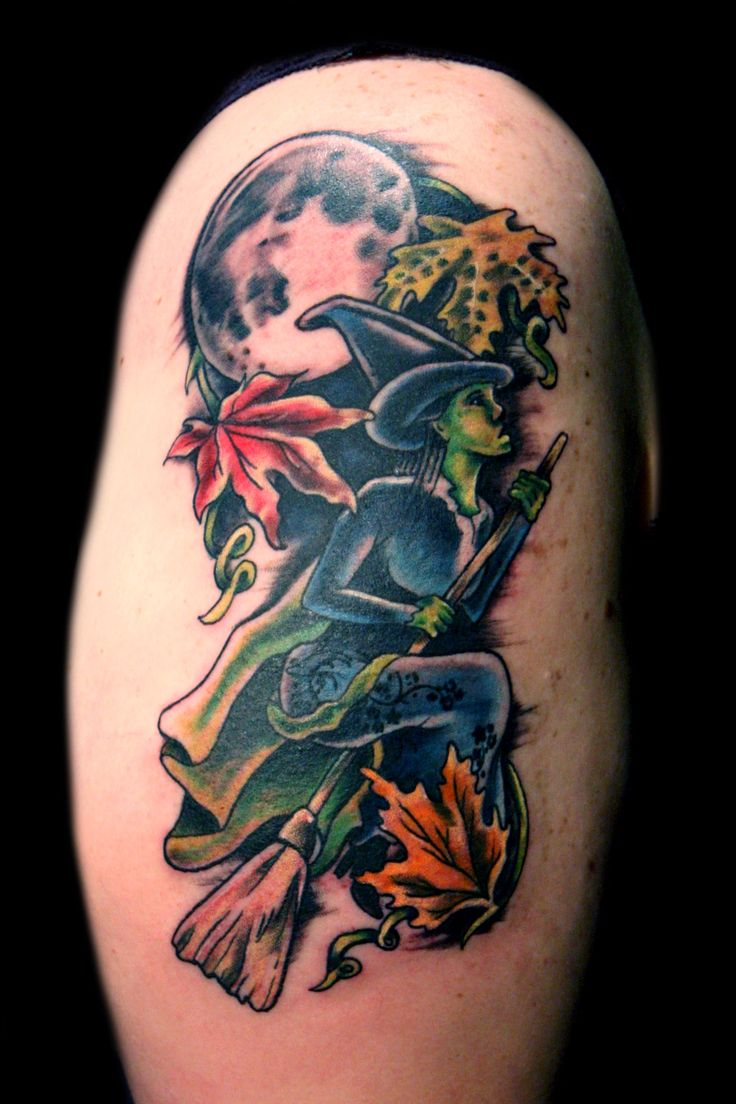 Route 66 tattoo picture at checkoutmyink com - Witch Moon Tattoo Cool Halloween Tattoo Images Free Tattoo
