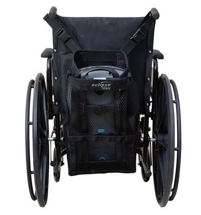 The SeQual Eclipse Portable Oxygen Concentrator Wheelchair Pack makes life easier for those with mobility disabilities. This lightweight pack attaches to any push-handle wheelchair using adjustable clips buckle-style clips. Compatible with all Eclipse systems.