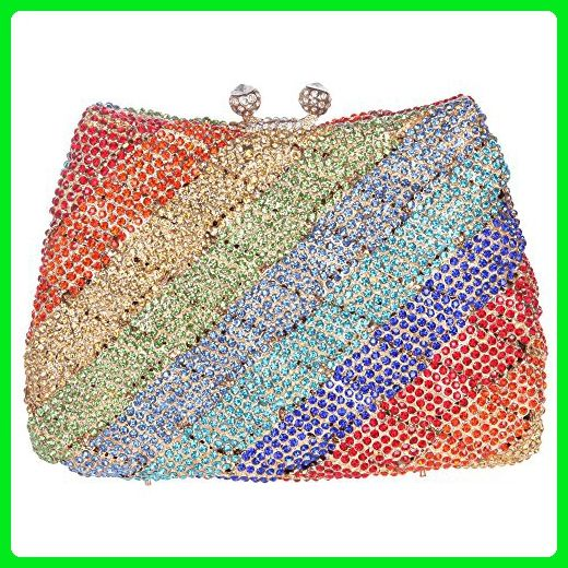 Fawziya Rainbow Crystal Purse Luxury Rhinestone Clutch Bag-Multicolor - Evening  bags ( Amazon Partner-Link)  216382f3a03b4