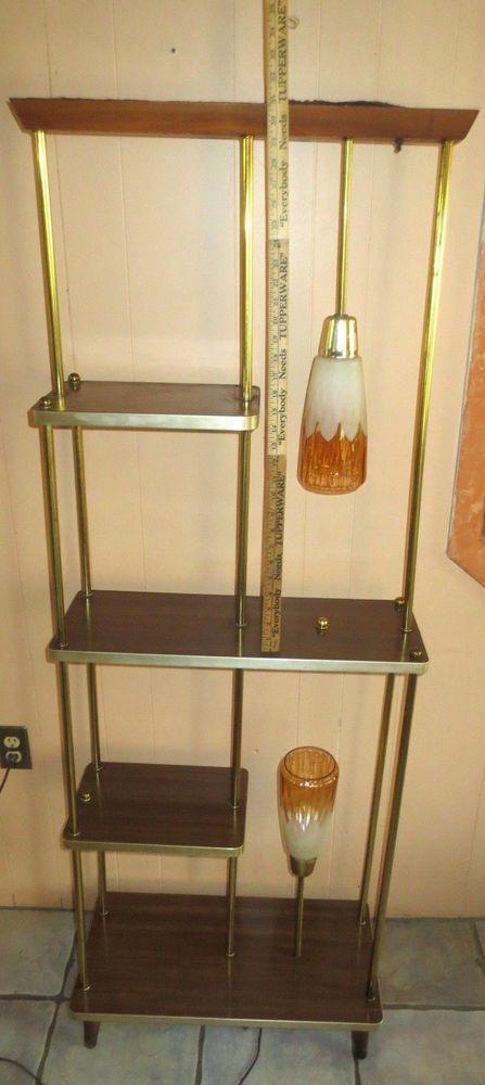 VINTAGE+MID+CENTURY+MODERN+RETRO+2+LAMP+WALL+DIVIDER++