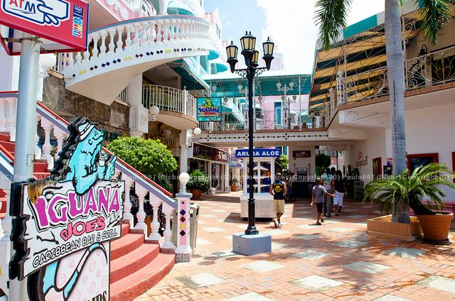 Royal Plaza in Oranjestad, Aruba. LOVED shopping (and eating) there! Iguana Joe's is a must as well as purchasing some Aruba Aloe!