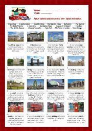 English worksheet: London