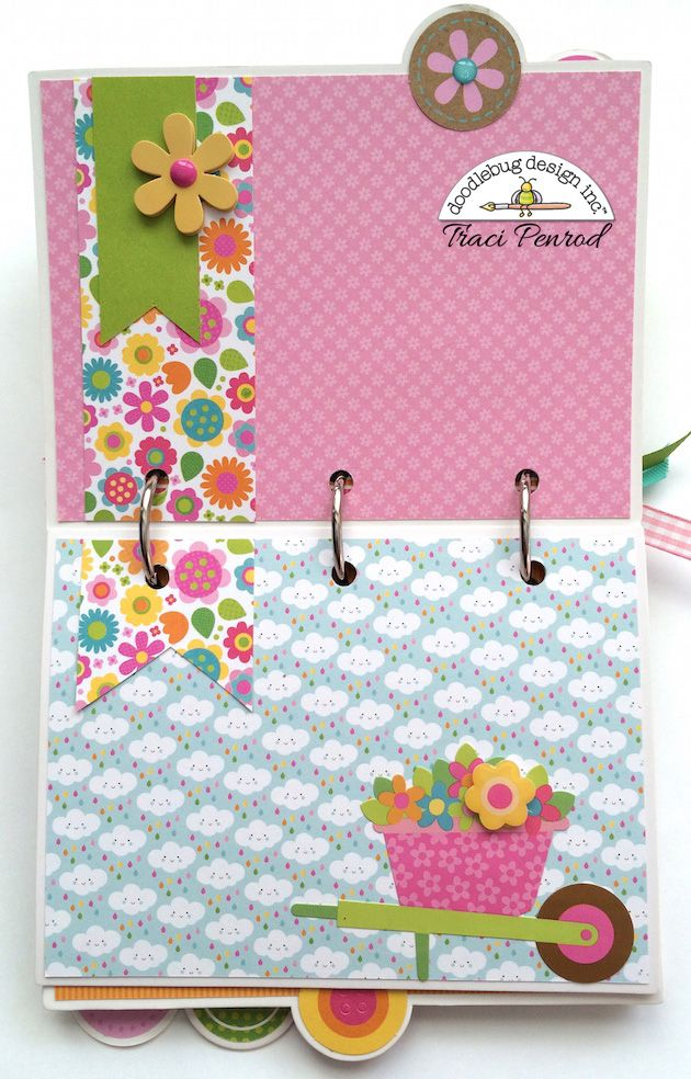 Artsy Albums Scrapbooking Kits and Custom Designed Scrapbook Albums by Traci Penrod: Doodlebug Hello Sunshine Mini Album