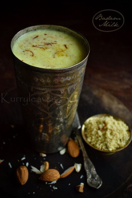 BADAM MILK RECIPE | kurryleaves