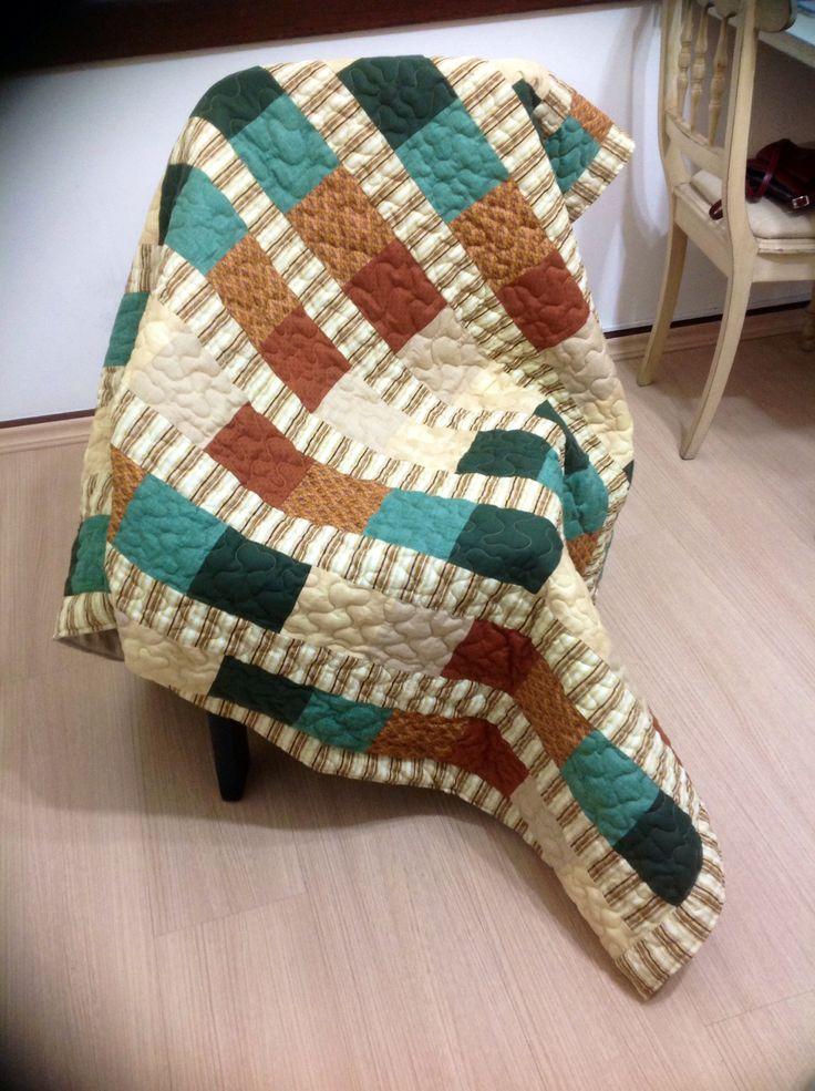 Colcha solteiro, feita por Inês Marques