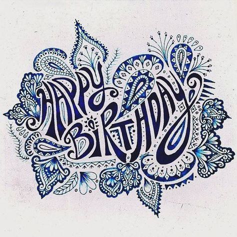 Birthday Zentangle