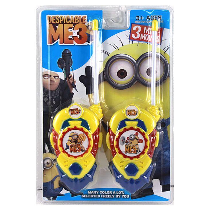 2 pz/lotto Minion Fumetto Giocattolo Giocattolo Walkie Talkie Interfono Per Bambini Gioco Citofono Elettronico Giocattoli Per Il Capretto Regali # CB
