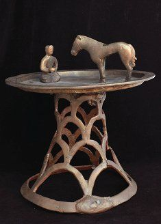 Exhibit of Ancient Kazakhstan Pazyryk artifact