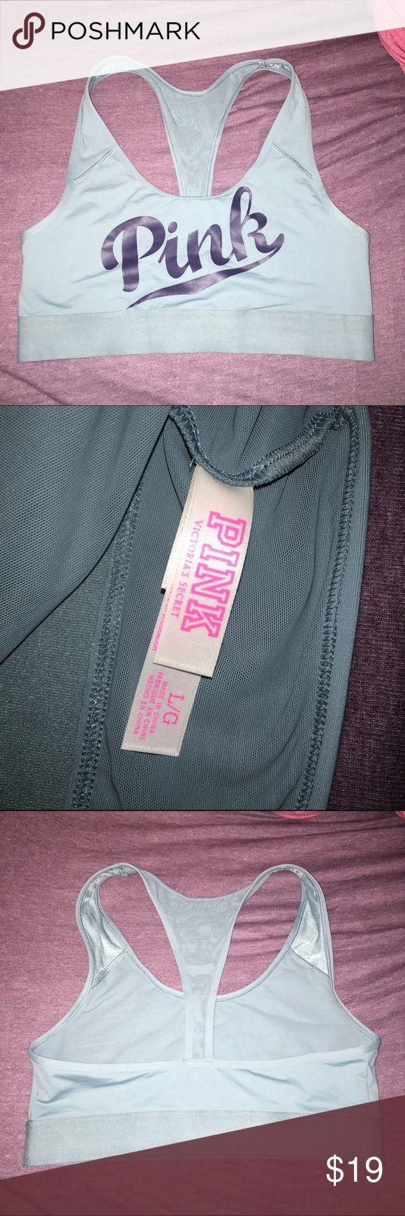 NWOT L vs pink bralette Teal color racerback sports bra, online order tried on but never worn no flaws NWOT! Size L pulls on PINK Victoria's Secret Intimates & Sleepwear Bras