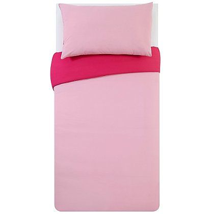 Reversible Pink Duvet Cover | Home & Garden | George