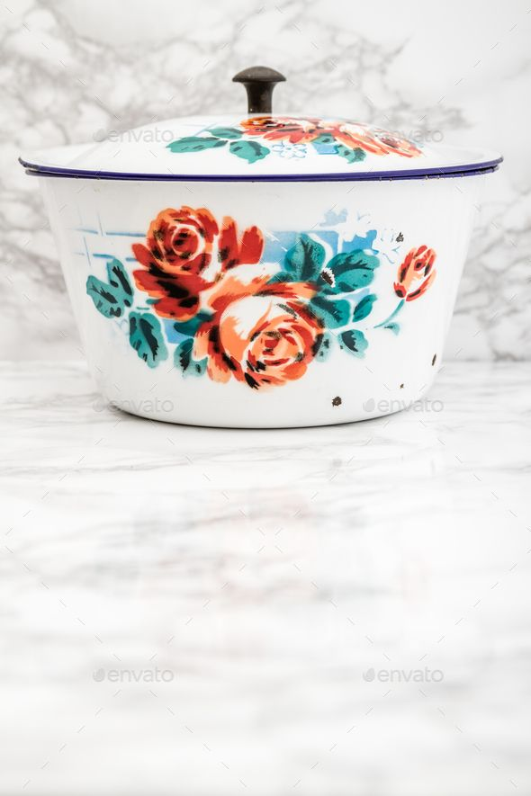 Download Free              Empty White Vintage Enamel Saucepan with Flower Design            #               antique #backdrop #background #blank #board #bowl #circle #cookery #copy #cuisine #destination #dining #dish #dishware #empty #enamel #flower #food #Gn #kitchen #kitchenware #marble #object #old #over #pattern #place #restaurant #retro #round #rustic #saucepan #set #space #surface #table #tablecloth #Tabletop
