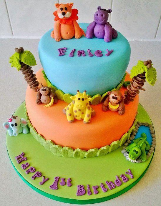 Jungle themed birthday cake - by tinatcakes @ CakesDecor ...