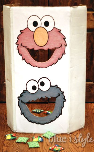 Blue i Style: {entertaining with style} DIY Sesame Street Bean Bag Toss Game