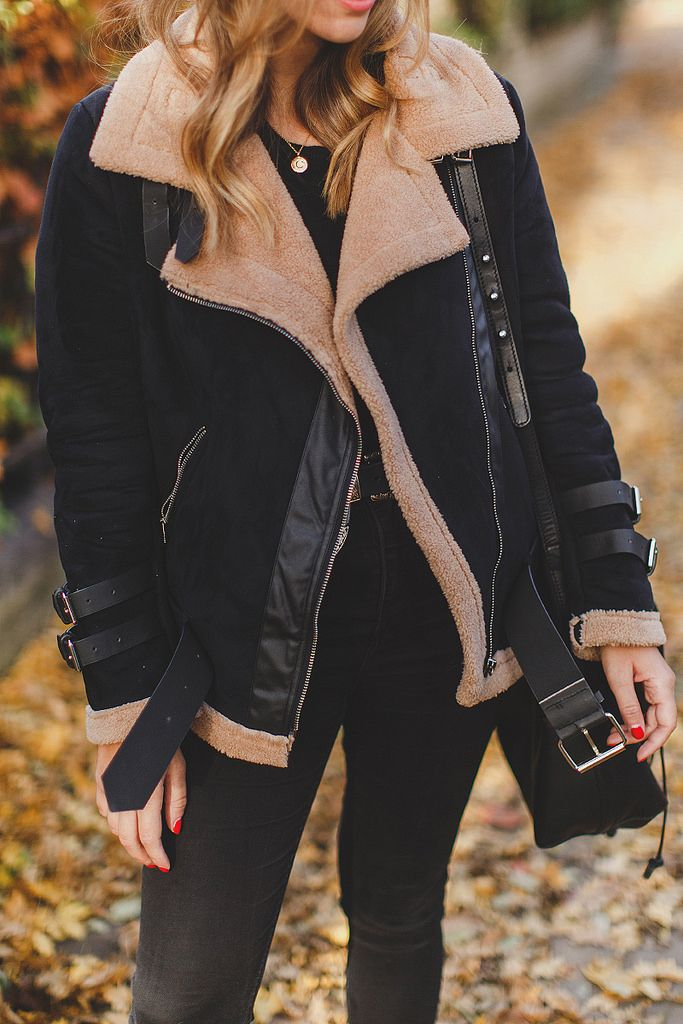 Shearling Jacket & Autumn Leaves