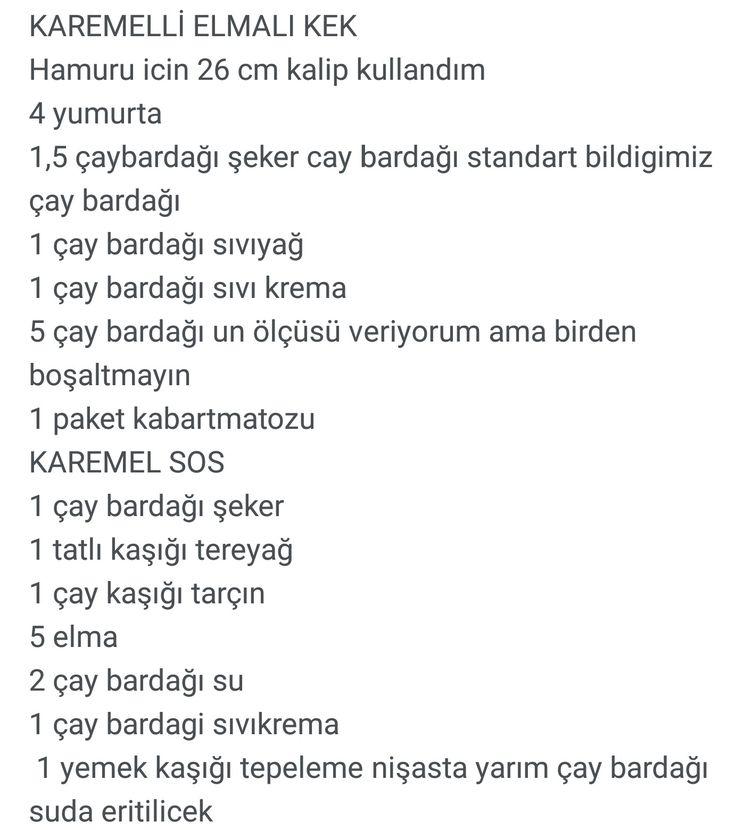 KAREMELLİ ELMALI KEK