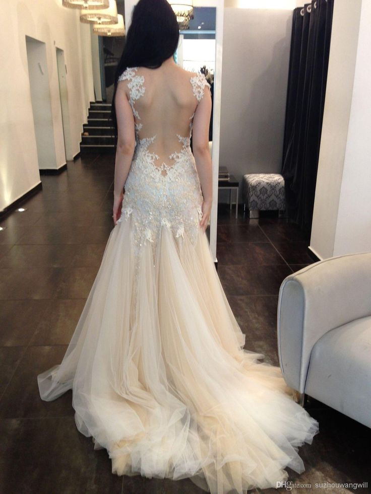 Wholesale Wedding Dresses - Buy 2014 Sexy Backless Beach Zuhair Murad Victorian Dress Venice Lace Plus Size Sheer Lace Gothic Wedding Dresses with Sleeves, $169.0 | DHgate