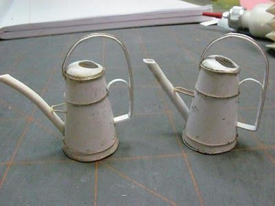 Dollhouse Miniature Furniture - Tutorials | 1 inch minis: Watering Can Tutorial Part 4