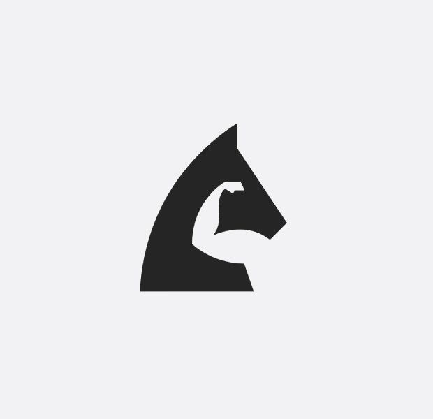 PowerFul Horse Logo For Gyms