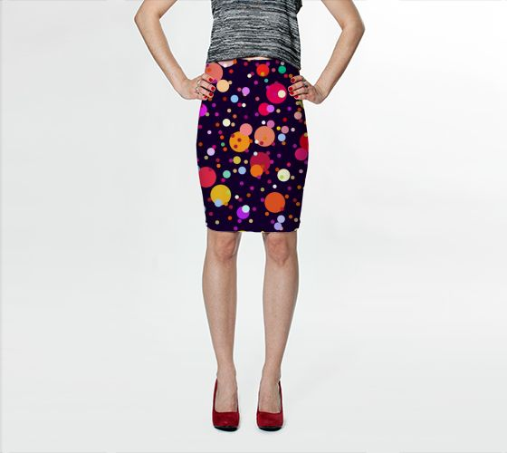 "Fitted Skirt ""Celebrate"" by Jenny Mhairi"