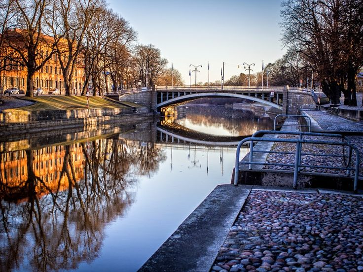 One of the bridges in Turku, Finland.