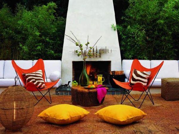 Vance Burke Interior Design: Outdoor Rooms, Fireplaces Decor, Interiors Design, Modern Outdoor Fireplaces, Gardens Design, Fireplaces Warm, Outdoor Spaces, Gardens Fireplaces, Cozy Fireplaces